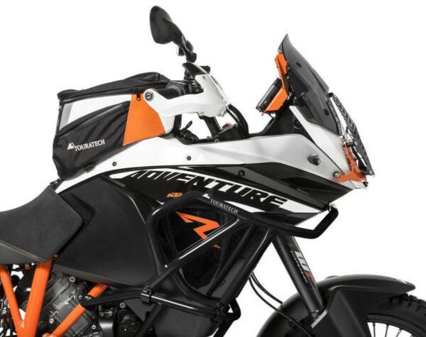 Touratech Crash Bar Extension, for Original KTM Crash Bars, Black, KTM 1050 Adventure, 1190 Adventure, 1190 Adventure R